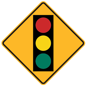 new york traffic signal ahead