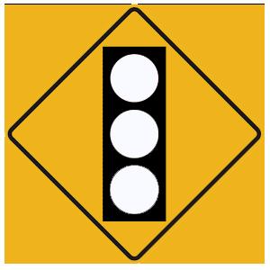 pennsylvania traffic signal ahead blank