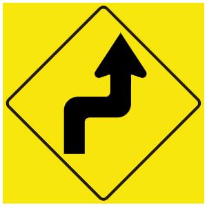 virginia sharp turn right